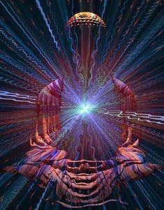 What is Cosmic Consciousness? The 5 Main Signals of Awakened Beings Psychedelic Art, Art Visionnaire, Cosmic Consciousness, Psy Art, Fear Of Flying, Spirited Art, Meditation Techniques, Mystique, Visionary Art