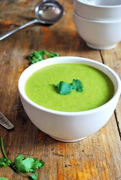 Sopa de Calabaza y Cilantro. Una de mis preferidas.
