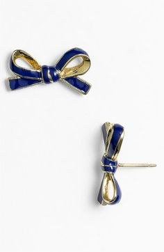kate spade new york 'skinny mini' bow stud earrings | Nordstrom