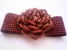 bracelete marrom miçangas