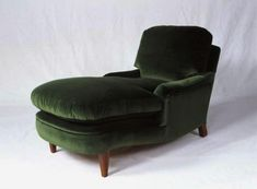 George Sherlock Green Chaise Lounge Chair, Remodelista