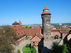 Nürnberg Blick auf die Kaiserburg