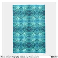 Ocean blue photography inspired custom text kitchen towel Personalized Buttons, Weekend House, Home Decor Online, Ocean Themes, Ocean Photography, Home Reno, Coastal Homes, Blue Aesthetic, Online Gifts