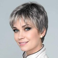 GINGER MONO - Always comfortable and a proven timeless style for the daily use, good looks. Short Hair Over 60, Short Hairstyles Over 50, Short Grey Hair, Thin Hair Haircuts, Short Hair With Layers, Short Hair Cuts For Women, Short Hair Styles, Edgy Haircuts, Grey Brown Hair
