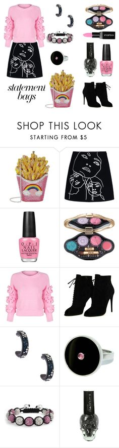 Untitled #930 by siriusfun on Polyvore featuring WithChic, STELLA McCARTNEY, Tom Ford, Judith Leiber, Bling Jewelry, Lizunova Fine Jewels, Anna Sui, Smashbox, OPI and Hot Topic