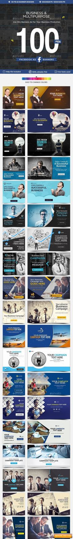 Facebook Ad Banners – 50 Designs – 2 Sizes Each Free Download | Free Graphic Templates, Fonts, Logos & Icons, PSD, AI