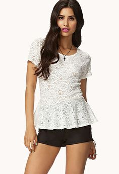Chantilly Lace Peplum Top | FOREVER 21 - 2052287808