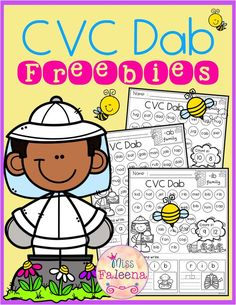 These worksheets are FREE samples from my CVC Dab.Get the CVC Dab HEREFree CVC Dab has 6 pages of CVC Dab worksheets. This product will help children to learn CVC words by finding, dabbing, tracing, and writing.This product is suitable for Literacy Stations, Literacy Activities, Literacy Centers, Kindergarten Reading Activities, Emergent Literacy, Writing Centers, Children Activities, Preschool Learning, Family Activities