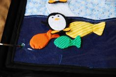 Igloo, penguin, fish -- magnet