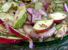 Apple Pear Cucumber Salad -- sounds like an odd combo but gets great reviews (& maybe try jicama in place of apple?)