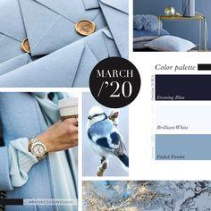 Pantone Colors: Evening Blue, Brilliant White, Faded Denim -- Follow Paper Couture Studio on Instagram and Facebook! @papercouturestudio --