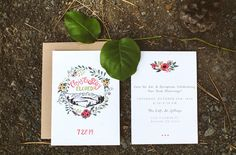 floral + mountain elopement annoucement