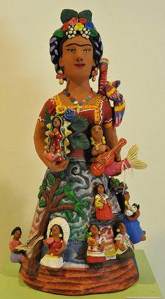 ah, the memories... selling Oaxacan folkart in our fountain gallery :)  Frida With Friends by Teyacapan, Josefina Aguilar, Oaxaca
