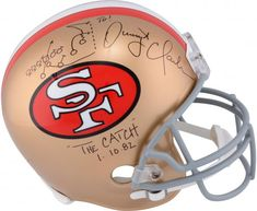e95e9b04bf2 Dwight Clark San Francisco 49ers Autographed Riddell Pro-Line Helmet with
