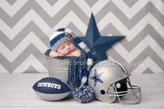 Future Dallas Cowboys Fan!!! Caralee Case Photography.  Newborn Infant Baby Photographer.