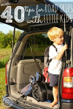 Tips for Road Trips with Toddlers & Preschoolers Discover tips and tools for road trips with toddlers<br> 40 tips for going on road trips with toddlers and preschoolers. These are so great for going on a road trip with little kids. Toddler Travel, Travel With Kids, Family Travel, Road Trip With Kids, Family Road Trips, Family Vacations, Best Vacations With Toddlers, Beach Vacations, Road Trip Activities