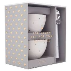 Golden Heart White Ice Cream Bowl and Scoop Set : Target
