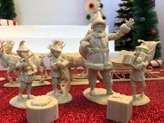 New LOD Enterprises figure set - Santa's Christmas Delivery.  15 detailed plastic figures (1/30 scale) for $22.50 at www.lodtoysoldiers.com.
