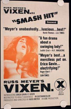RUSS MEYER'S VIXEN 1968 Original #MoviePoster  #Exploitation #X-Rated #RussMeyer #Film #Movie