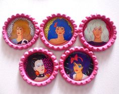 Etsy の Jem and The Holograms Brooches/Magnets by LotsesofFoxes