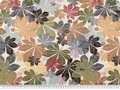 Tkanina tapicerska, zakardowa, liscie, 140cm