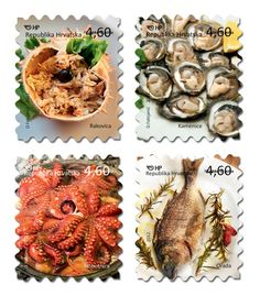 Croatian Gastronomy Stamp Collection