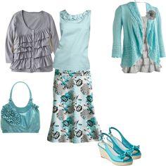Like the skirt and tops.