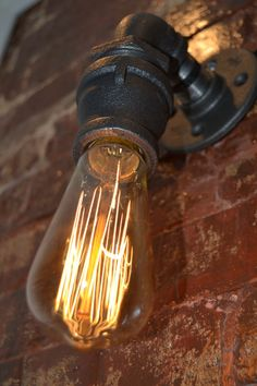 Industrial Sconce with Edison Bulb