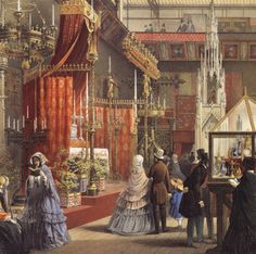 Queen Victoria Opens The Great Exhibition In The Crystal border=