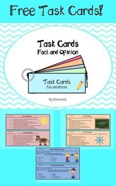 FREEBIE!!! Task Cards : Fact and Opinion