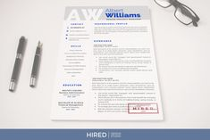 Project Manager Resume, CV templates by HIRED Design Studio on @creativemarket First Resume, My Resume, Resume Writing, Cover Letter Template, Cv Template, Letter Templates, Project Manager Resume, Microsoft, Resume Design