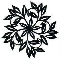 Cut paper designs by PaulaGGG. Flower Art Drawing, Paper Cut Design, Crochet Leaves, Wood Burning Patterns, Stencil Templates, Silhouette Cameo Projects, Cricut Creations, Flower Images, Floral Illustrations