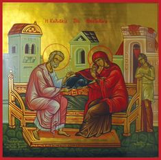 """Full of Grace and Truth: """"Today is the proclamation of universal joy. The Proclamation, Santa Ana, Heaven Sent, Orthodox Icons, In The Flesh, Christ, Religion, Joy, Painting"""