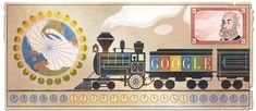 Sandford Fleming's Birthday- a Scots-Canadian (b. Kirkcaldy) who invented standard time zones Google Doodles, Standard Time Zones, Solar Time, Europe Day, Postage Stamps, Decoration, History, Logos, Creative