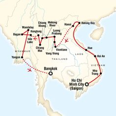 map of vietnam laos burma on a shoestring