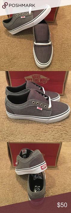 Chambray Chukka Low Vans New in box. Black/Grey Vans Shoes Sneakers