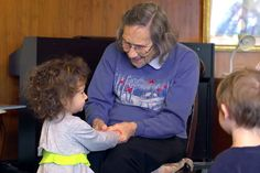 Seniors and Toddlers learning and loving together.... We need more programs like this.