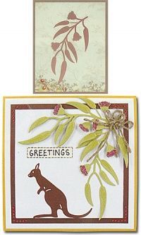 Ultimate Crafts ULT157330 -Eucalyptus Blossom Australian Christmas Cards, Aussie Christmas, Christmas Tag, Baby Artwork, Christmas In Australia, Australian Flowers, Greeting Card Template, Christmas Paper Crafts, Shaker Cards