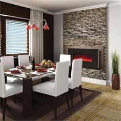 Amantii 58 inch Wall Mount Electric Fireplace with Black Granite WM-58-BLKGRANITE