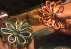 Flores con trocitos de cola de ratón