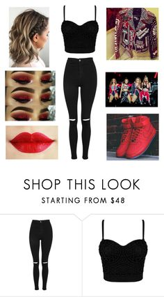 """""""Little Mix Glory Days Tour"""" by andreaosorio16012 on Polyvore featuring moda, Topshop y NIKE"""