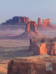 USA, Arizona, View Over Monument Valley from the Top of Hunt's Mesa Photographic Print by Michele Falzone at Art.com