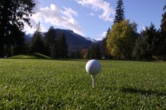 Tee at golf course