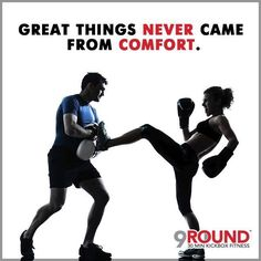 """It's the weekend!  And we all know that after a busy week, the first thing you want to do is relax.  However, we STRONGLY encourage you to get your gloves on and get your 9 rounds in today.  Why?    Because we want to see you achieve your fitness goals. We WANT you to see the results you've been working for!  And great things NEVER come from """"comfort"""".  If it's worth having... you've gotta WORK for it!    So get up, and head to 9Round!    You'll be glad you did!  #9Round #9Rounder #GetFit…"""