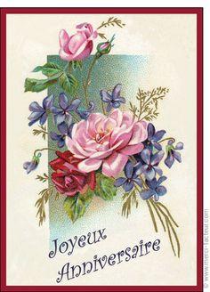 Carte Des roses pour un joyeux anniversaire pour envoyer par La Poste, sur Merci-Facteur !