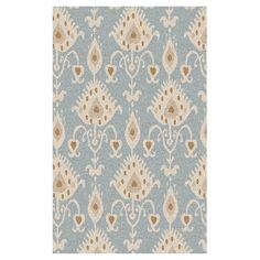 Wool rug with an ikat motif. Hand-tufted in India.  Product: RugConstruction Material: WoolColor: