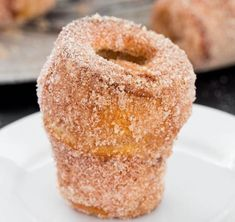 "I never thought to do this to my popovers, hmmmm . ""These churro popovers are light, they're puffy, so buttery, they're cinnamon sweet heaven! Mexican Food Recipes, Sweet Recipes, Brunch Recipes, Fruit Recipes, Köstliche Desserts, Delicious Desserts, Yummy Food, Tasty, Churros"