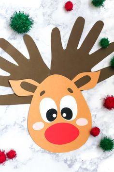 Come find all the best ideas of handprint art and crafts for kids! There's Christmas handprint crafts, animal handprint art, Father's Day, Mother's Day and more! Reindeer Handprint, Reindeer Craft, Handprint Art, Candy Cane Reindeer, Nativity Crafts, Snowman Crafts, Kids Crafts, Toddler Crafts, Preschool Crafts