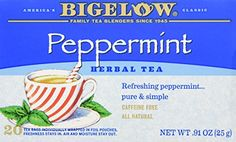 Great Bigelow Tea Herb Tea Peppermint -- 20 Tea Bags