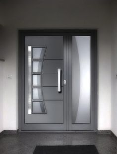 New wooden main door design entrance ideas Modern Entrance Door, Main Entrance Door Design, Wooden Main Door Design, Modern Exterior Doors, Modern Front Door, Wooden Front Doors, Front Door Entrance, House Front Door, Entrance Ideas